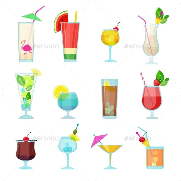Cocktails Collection Alcoholic Summer Drinks
