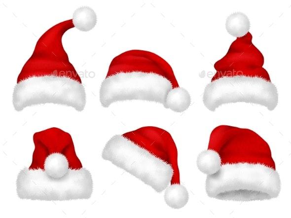 Santa Red Hat - Christmas Seasons/Holidays