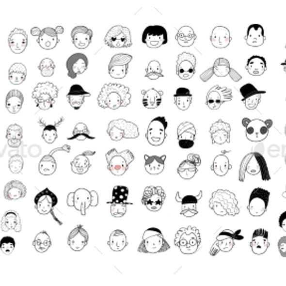 Pattern with Graphical Faces