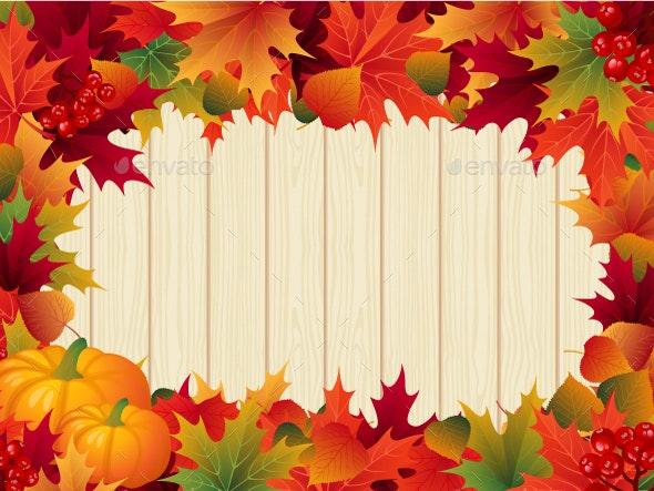 Autumn Leaves Thanksgiving Border - Borders Decorative