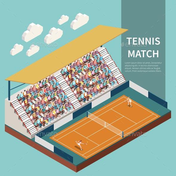 Sport Field Isometric Illustration