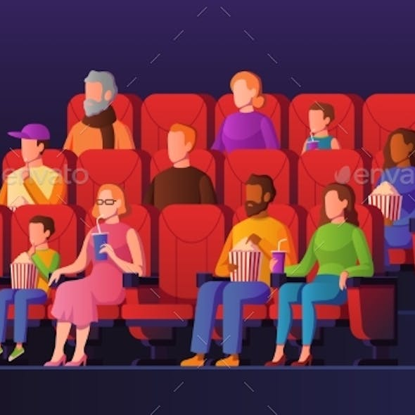 People in Movie Hall