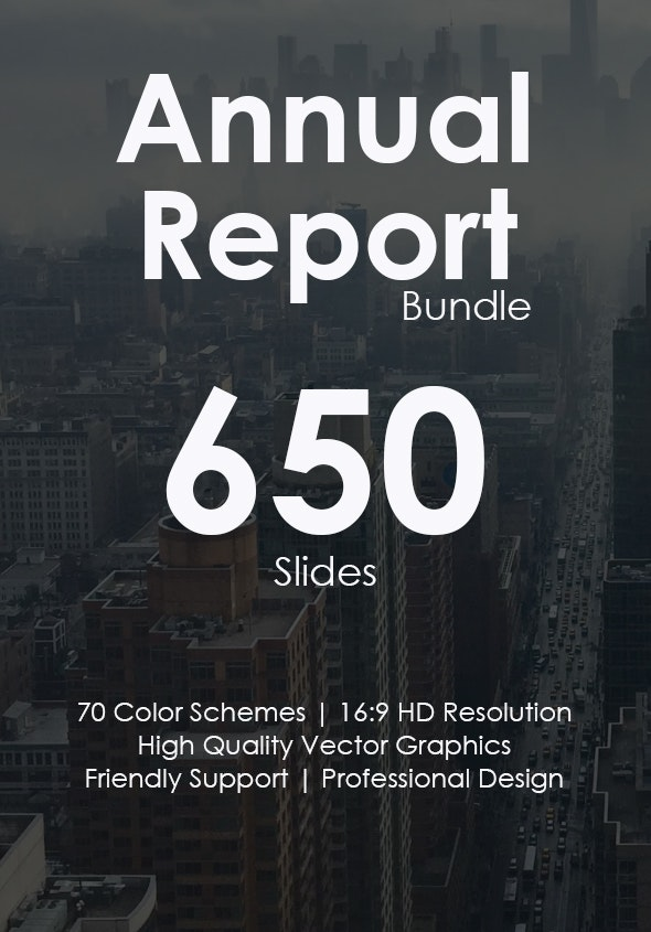 2019 Annual Report Pitch Deck Bundle - Business Keynote Templates
