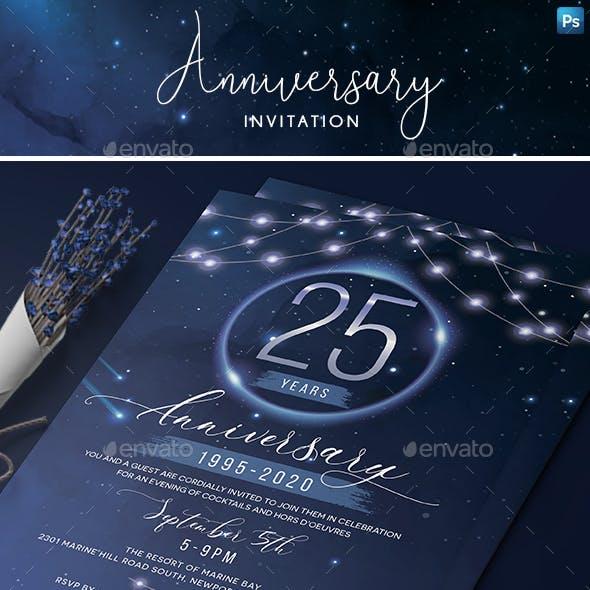Stars Anniversary Invitation