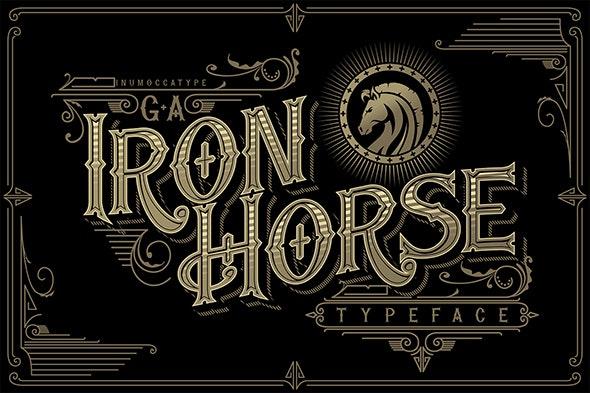 G.A Iron Horse - Old English Decorative