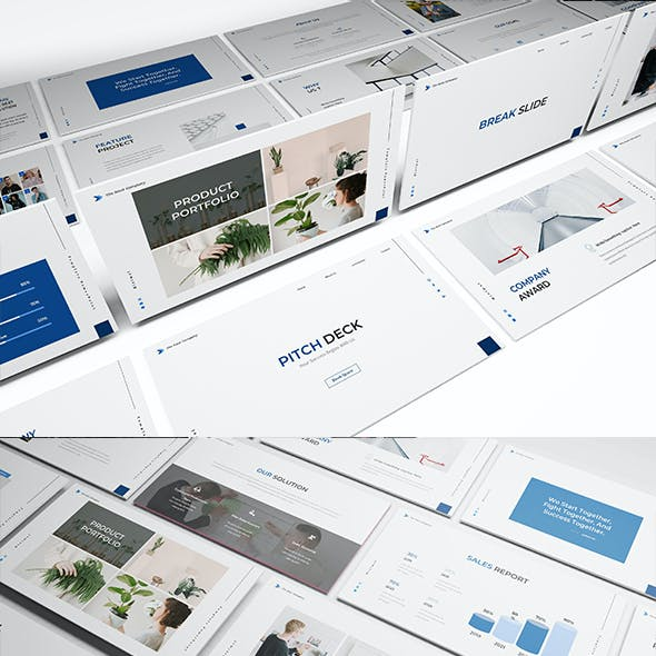 Pitch Deck Bussines Powerpoint Template