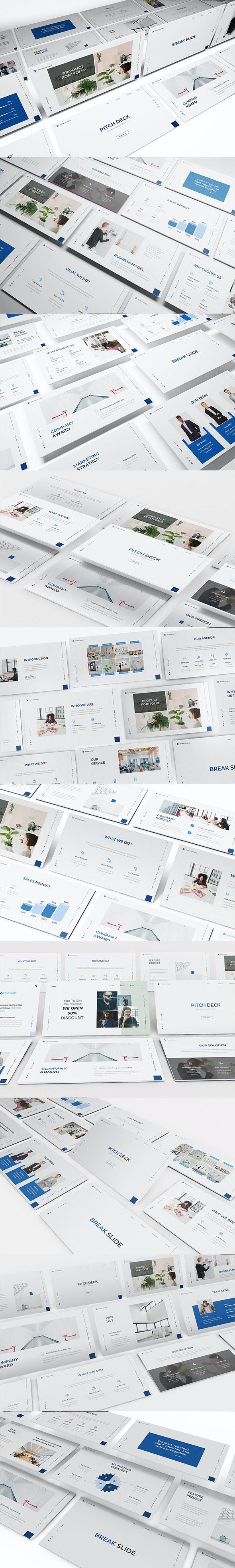 Pitch Deck Bussines Google Slide Template - Google Slides Presentation Templates