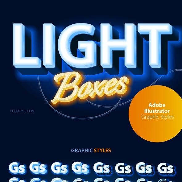 Adobe Illustrator Graphic Styles LightBox