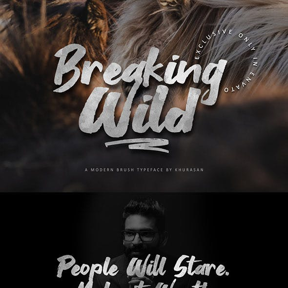 Breaking Wild Brush Font