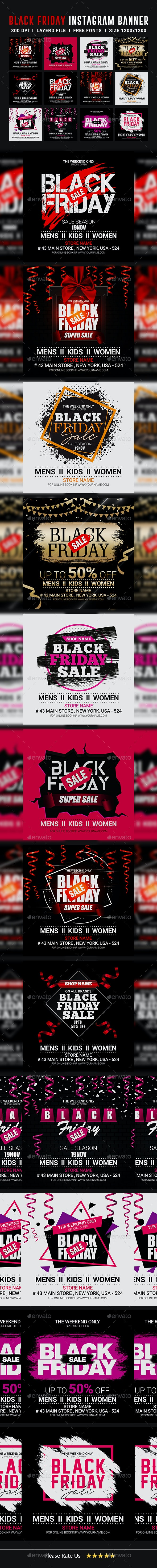 12 Black Friday Instagram Banners