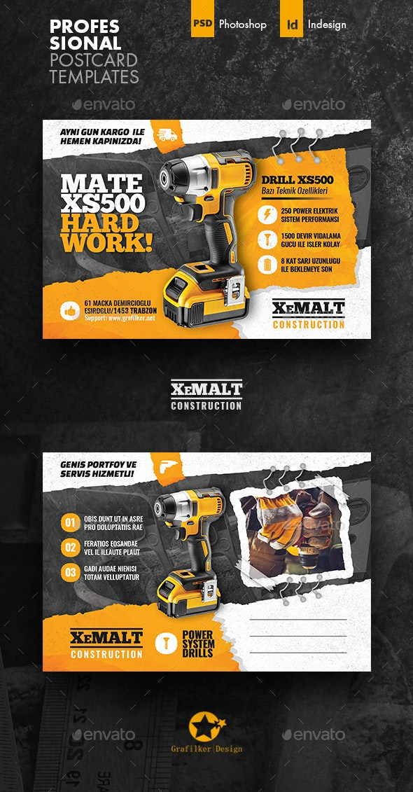 Construction Postcard Templates - Cards & Invites Print Templates