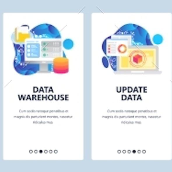 Mobile App Onboarding Screens Data Science