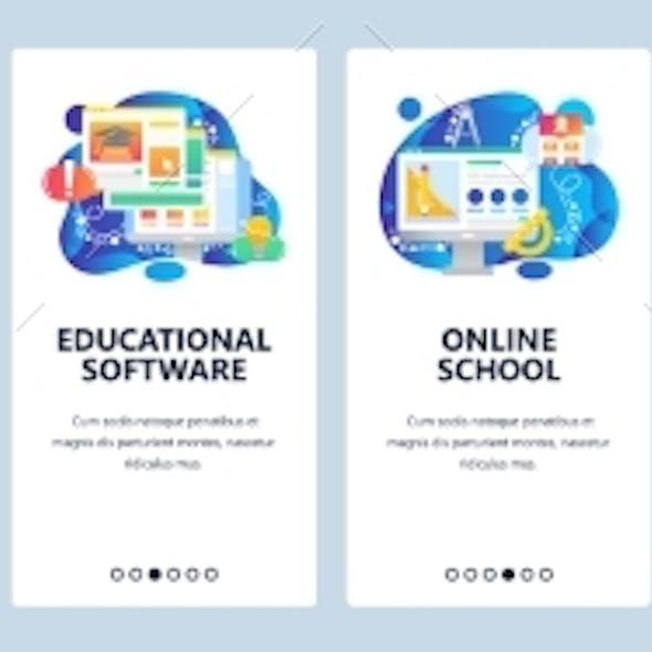 Mobile App Onboarding Screens Online School