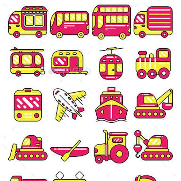 Transportation Icon Set