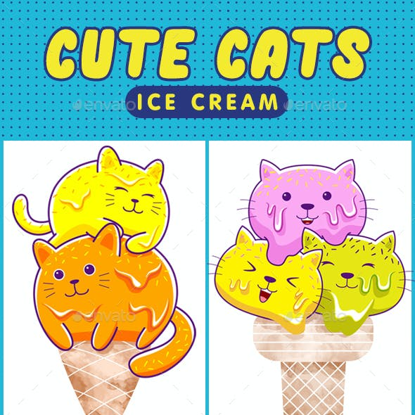Cute Cats Ice Cream