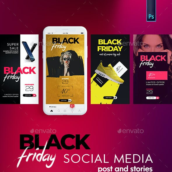 Black Friday Instagram Post and Stories