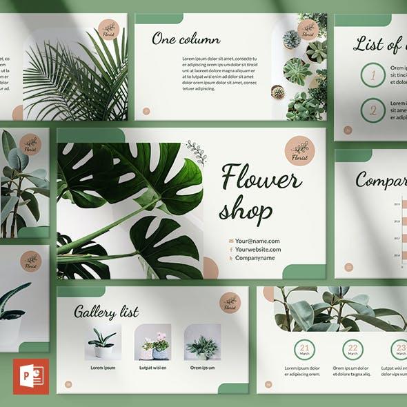 Flower Shop PowerPoint Presentation Template
