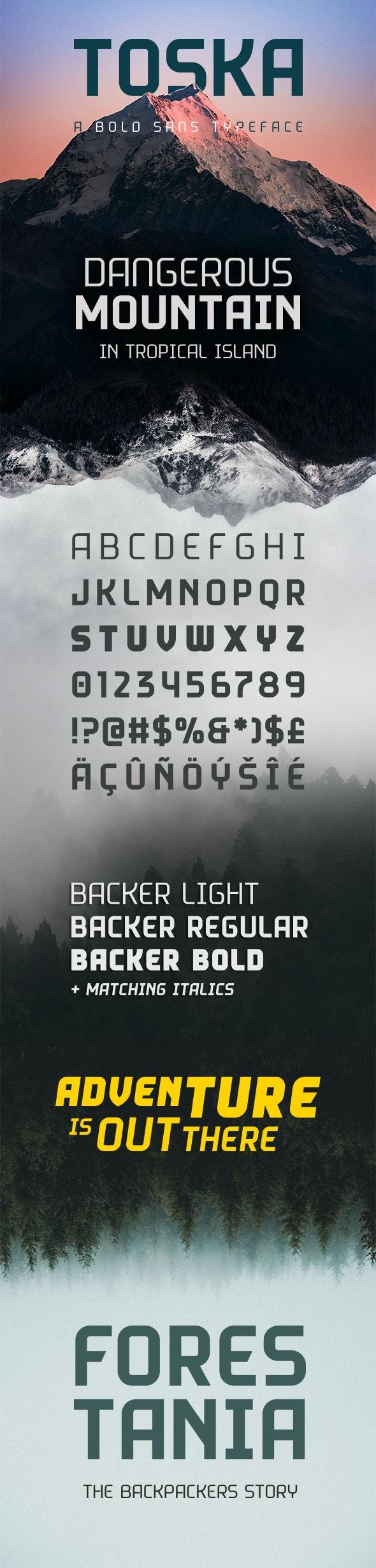 Toska Sans - Sans-Serif Fonts
