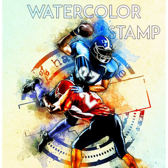 Watercolor Stamp Photoshop Action