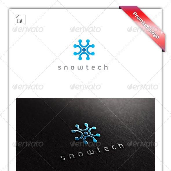 Snowtech Snowflake Technology Logo