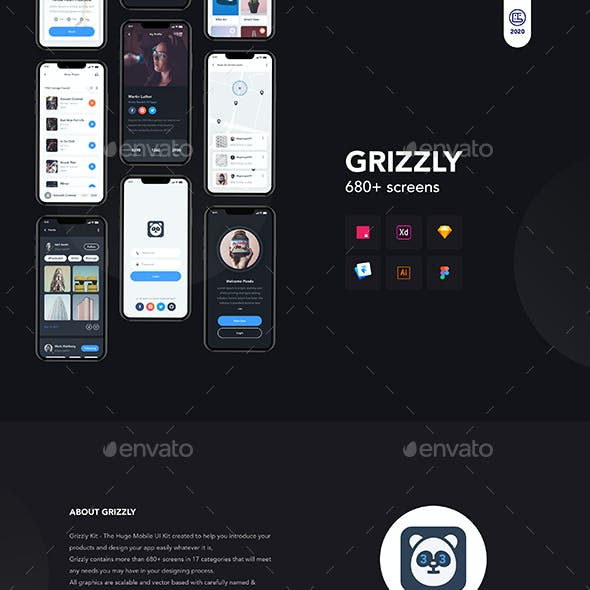 Grizzly   Mobile App Ui KIt