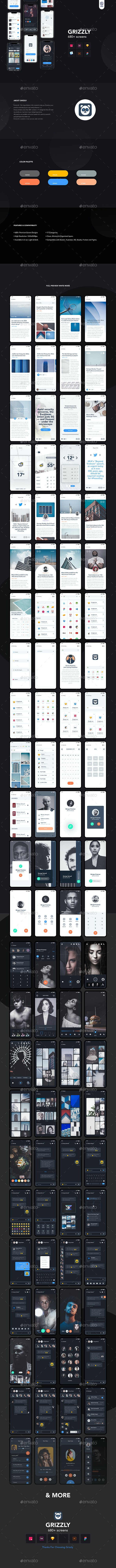 Grizzly | Mobile App Ui KIt - User Interfaces Web Elements