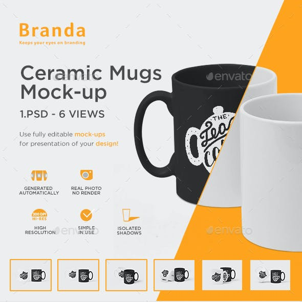 Ceramic Mugs Mock-up