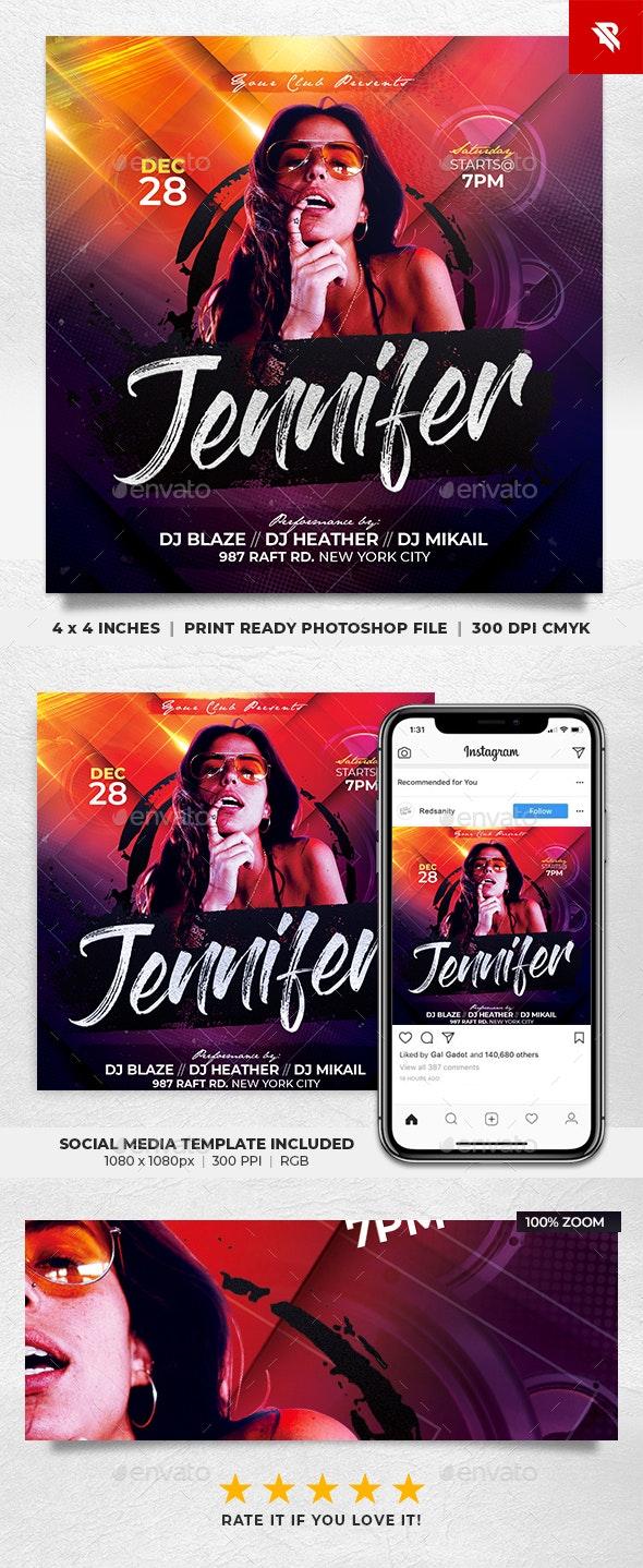 DJ Concert Tour Flyer - Clubs & Parties Events