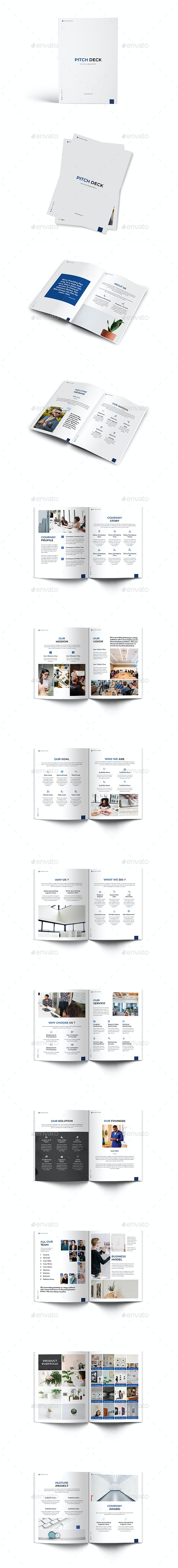 Pitch Deck Business A4 Brochure - Brochures Print Templates