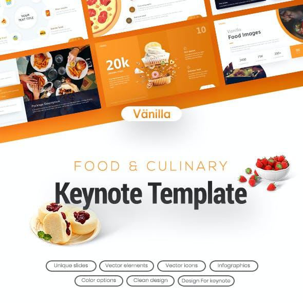 Vanilla Food & Beverage Keynote Presentation Template