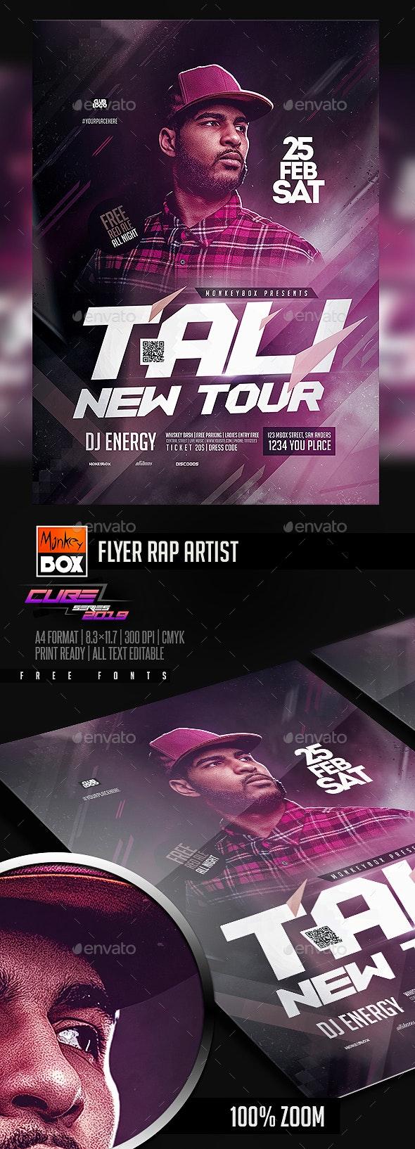 Flyer Rap Artist - Clubs & Parties Events