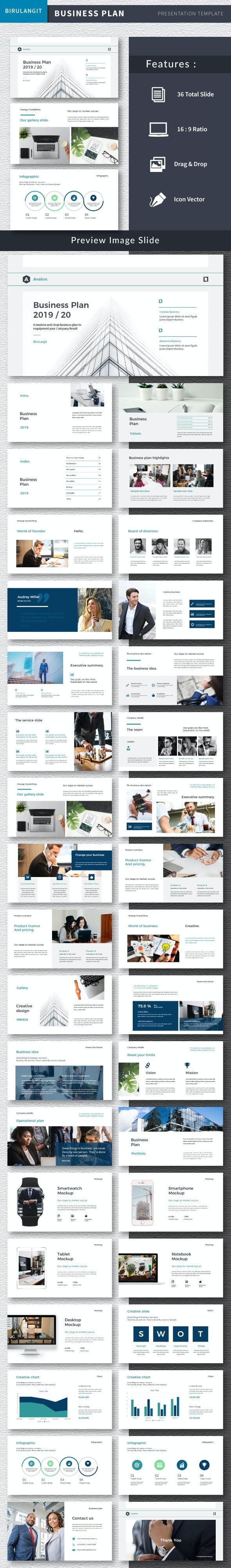 Avalon Business Plan - Keynote - Business Keynote Templates