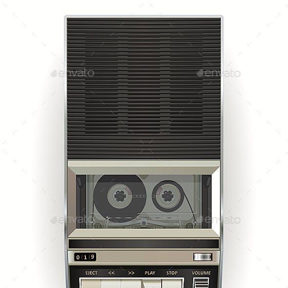Vintage Cassette Tape Player