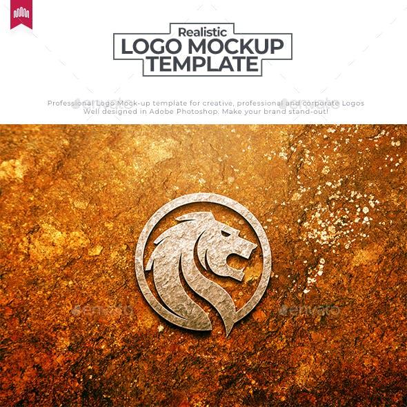 Concrete Wall Logo Mockup