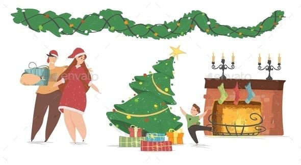 Happy Family New Year and Christmas Celebration - Christmas Seasons/Holidays