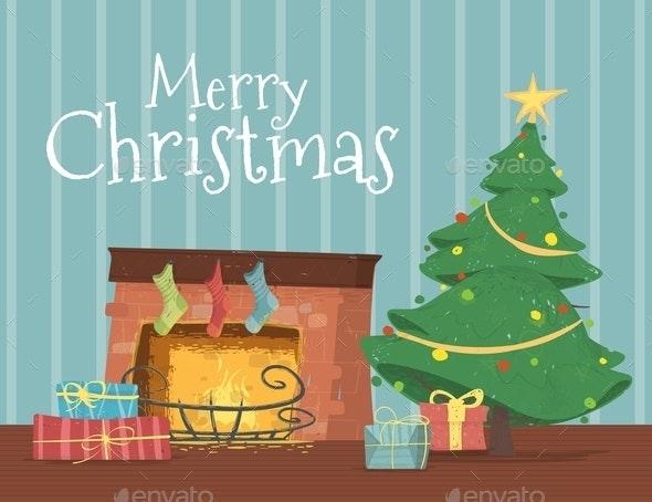 Gift Boxes Lying under Decorated Christmas Tree - Christmas Seasons/Holidays