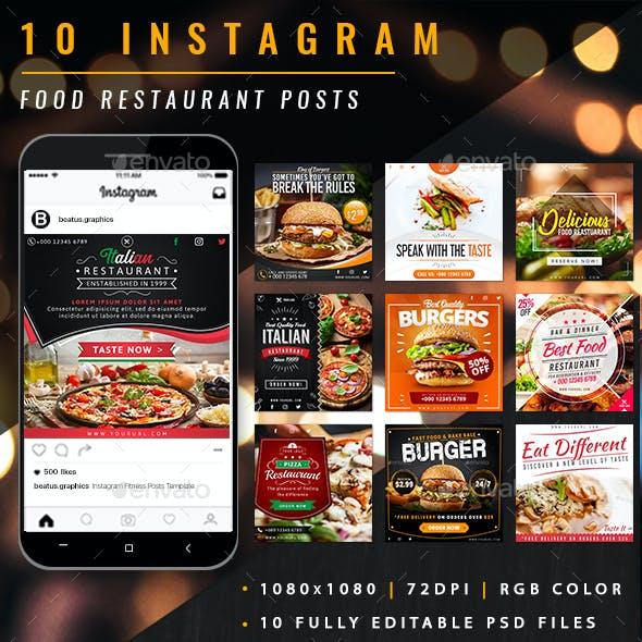 Food Restaurant Instagram Posts