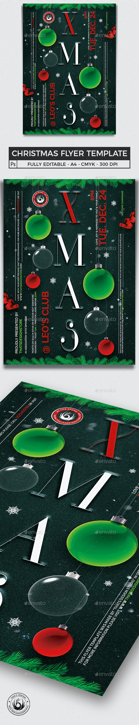 Christmas Eve Flyer Template V13 - Holidays Events
