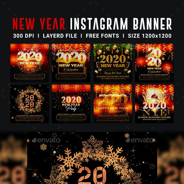 New Year 8 Instagram Banners