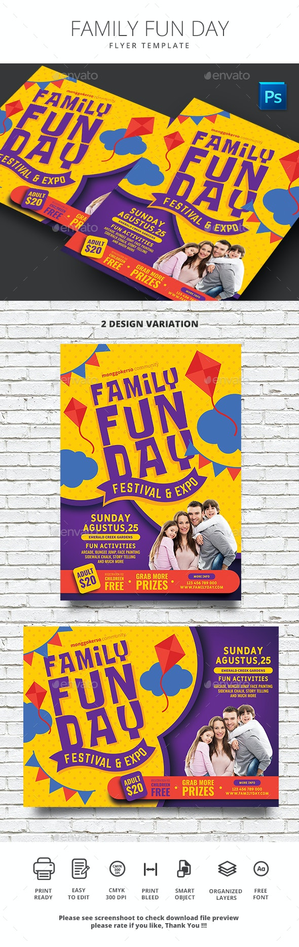 Family Fun Day - Events Flyers