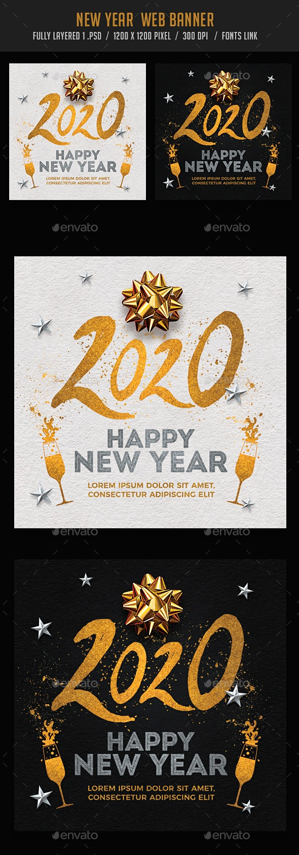 New Year Banner - Banners & Ads Web Elements