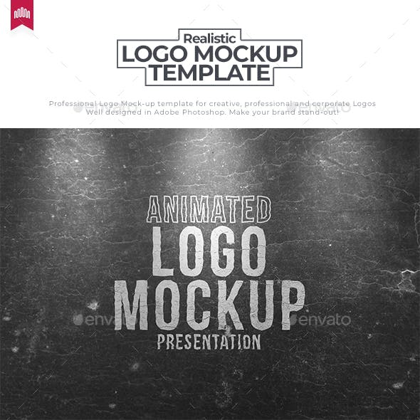 Wood Paint - Animated Logo Mockup