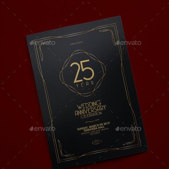 Elegant Anniversary Invitation