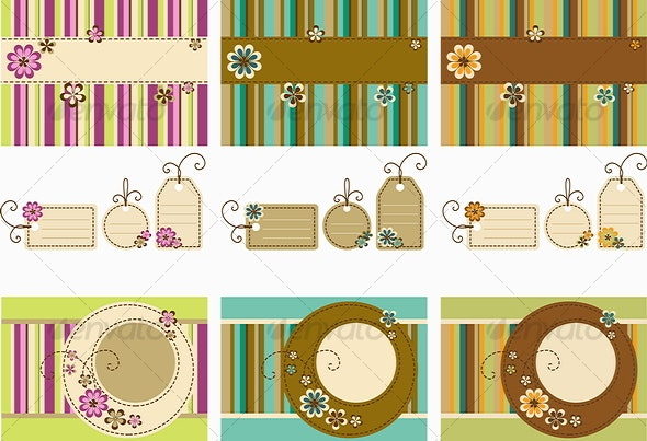 Scrapbook set - Decorative Vectors