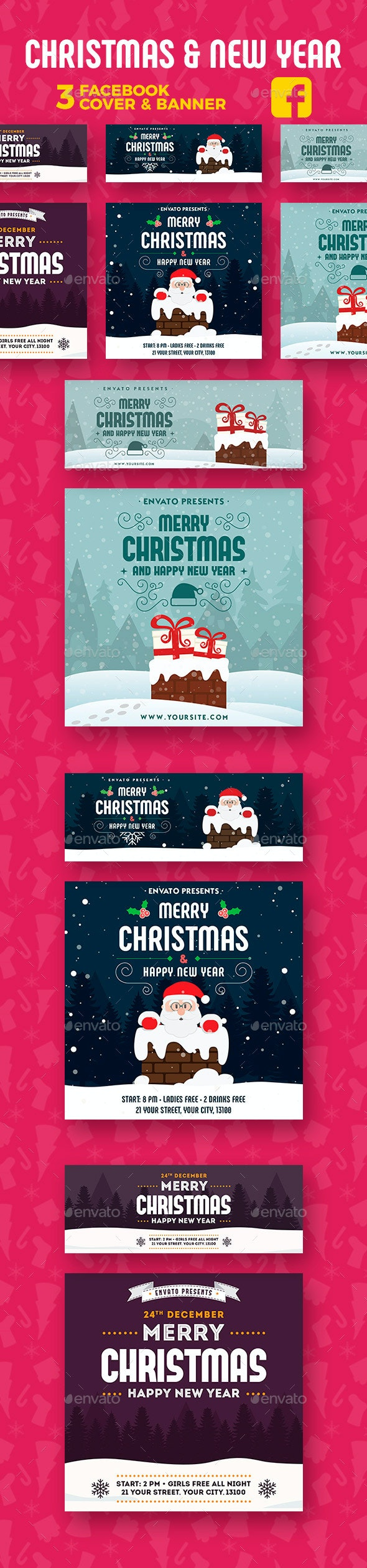 Christmas & New Year Facebook - Facebook Timeline Covers Social Media