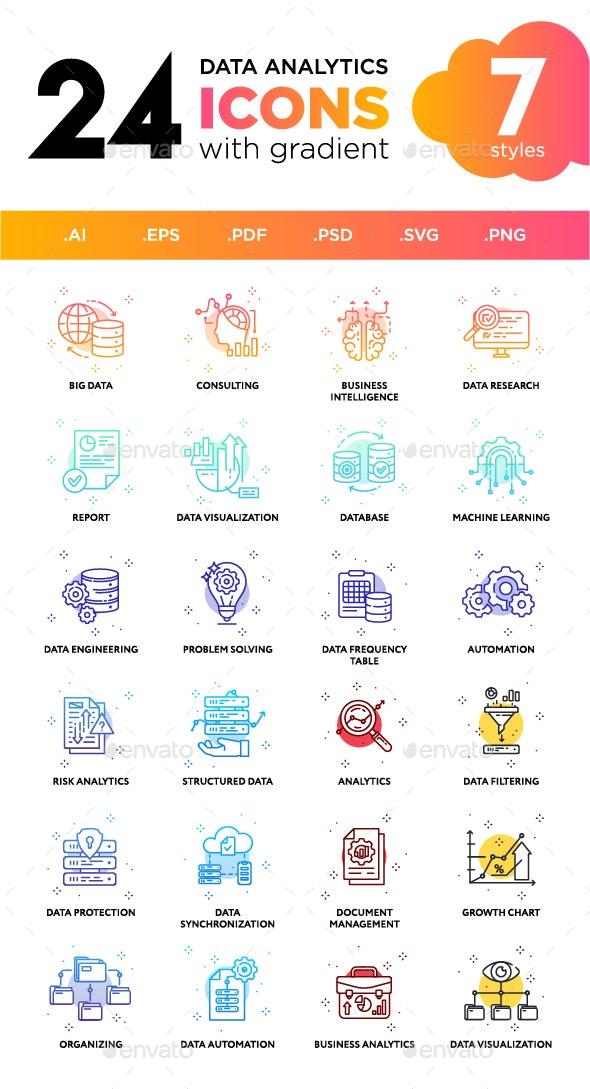 Data Analytics Icons - Technology Icons