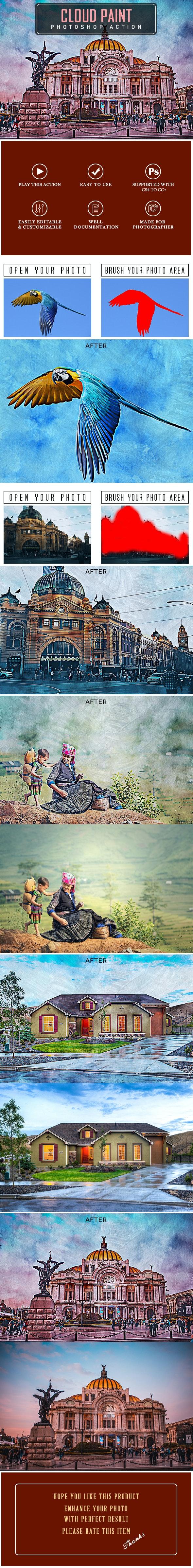 Cloud Paint Photoshop Action - Photo Effects Actions