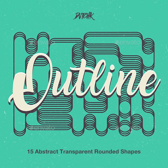 Outline | Abstract Transparent Rounded Shapes