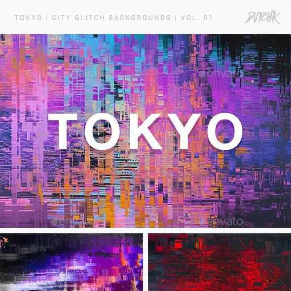 Tokyo | City Glitch Backgrounds | Vol. 01
