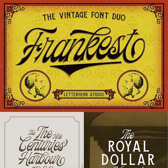 Frankest - The Vintage Font Duo